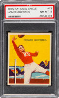 Football Cards:Singles (Pre-1950), 1935 National Chicle Homer Griffiths #13 PSA NM-MT 8 - ThreeHigher. ...