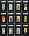 Baseball Cards:Lots, 1909-11 T206 Piedmont SGC Graded Collection (36). ...