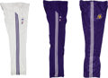 Basketball Collectibles:Uniforms, 2010's Kobe Bryant Game Worn Warm-Up Pants Lot of 3....
