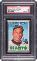 Baseball Cards:Unopened Packs/Display Boxes, 1967 Topps Baseball 3rd Series Cello Pack PSA EX 5 With Mays TopCard. ...