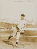 Baseball Collectibles:Photos, 1910 Christy Mathewson Original News Photograph by Bain, PSA/DNAType 1....