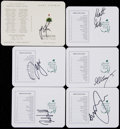 Golf Collectibles:Autographs, Signed Major Championship Unused Golf Scorecards Including OlympicGold Medalist Justin Rose (6)....