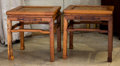 Asian:Chinese, A Pair of Chinese Hardwood Stands. 20 h x 19-1/4 w x 15-1/2 dinches (50.8 x 48.9 x 39.4 cm). ... (Total: 2 Items)