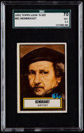 Non-Sport Cards:Singles (Post-1950), 1952 Topps Look-N-See Rembrandt #82 SGC 70 EX+ 5.5....