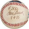 Baseball Collectibles:Balls, 1985 Tom Seaver Game Used, Signed Baseball from 300th Win Game. ...
