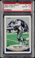 Football Cards:Singles (1970-Now), 1990 Fleer Update Emmitt Smith #U-40 PSA Gem Mint 10....