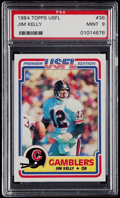 Football Cards:Singles (1970-Now), 1984 Topps USFL Jim Kelly #36 PSA Mint 9....