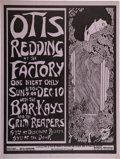 Music Memorabilia:Posters, Otis Redding Factory Concert Poster (Kaleidoscope Inc. Presents, 1967)....