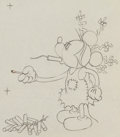 Animation Art:Production Drawing, Mickey's Mellerdrammer Mickey Mouse Animation Drawing (WaltDisney, 1933).. ...