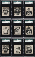 Football Cards:Lots, 1948 Bowman Football Collection (73). ...