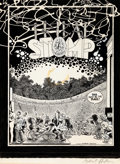 Original Comic Art:Covers, Gilbert Shelton Tribal Stomp 10th Reunion ConcertPoster/Program Cover Fabulous Furry Freak Brothers Original Art ...