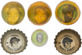 Baseball Cards:Lots, 1960's Bottle Cap & Toy Ball Collection (6). ...