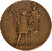1912 Stockholm Summer Olympics Bronze Third-Place Medal