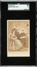 Non-Sport Cards:Singles (Pre-1950), C. 1870's Abe Lincoln and Family CDV SGC 60 EX 5. ...