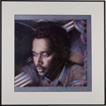 Music Memorabilia:Autographs and Signed Items, Luther Vandross Signed Print. ...