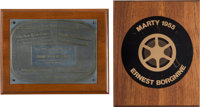 """An Ernest Borgnine Pair of """"Marty"""" Awards, 1955"""