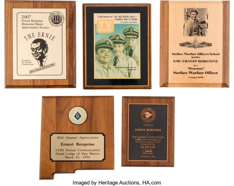 An Ernest Borgnine Group of Awards, 1960s-2000s     (Total