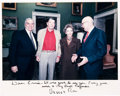 Movie/TV Memorabilia:Autographs and Signed Items, An Ernest Borgnine-Received Inscribed Color Photograph of Ronaldand Nancy Reagan, 1987....