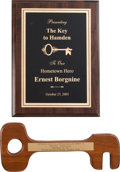 Movie/TV Memorabilia:Awards, An Ernest Borgnine Pair of 'Key to the City' Awards from His Hometown, 1971, 2003.... (Total: 2 Items)