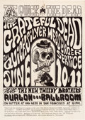 "Music Memorabilia:Posters, Grateful Dead ""The Quick and the Dead"" Concert Poster FD-12 (FamilyDog, 1966)...."