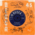 "Music Memorabilia:Autographs and Signed Items, Rolling Stones Signed Decca Single Sleeve with ""Not Fade Away"" 45(UK, Decca F.11845, 1964)...."