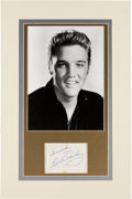 Music Memorabilia:Autographs and Signed Items, Elvis Presley Signature with Photo. ...