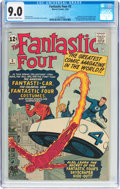 Silver Age (1956-1969):Superhero, Fantastic Four #3 (Marvel, 1962) CGC VF/NM 9.0 Off-white to white pages....