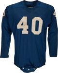 """Football Collectibles:Uniforms, 1957 Howard """"Hopalong"""" Cassady Game Worn Detroit Lions - Worn in NFL Championship Game!..."""