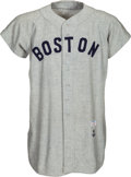"Baseball Collectibles:Uniforms, 1958 Don ""Bootsie"" Buddin Game Worn Boston Red Sox Jersey...."
