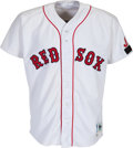 Baseball Collectibles:Uniforms, 1992 Tony Pena Game Worn Boston Red Sox Jersey with Rare Memorial Patch....
