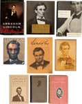 Movie/TV Memorabilia:Documents, An Ernest Borgnine Huge Collection of Books About Abraham Lincoln, 1901-2011.... (Total: 4 Items)