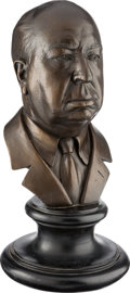 Movie/TV Memorabilia:Original Art, An Alfred Hitchcock Bust, Circa 1960s....