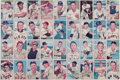 Baseball Cards:Sets, 1952 Bowman Baseball High Numbers 36-Card Uncut Sheet With Mays....