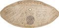 Football Collectibles:Balls, 1940 College All Stars Team Signed Football - With Nile Kinnick! ...