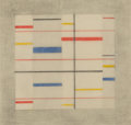 Works on Paper, Burgoyne Diller (1906-1965). Third Theme #414, 1950. Pencil and crayon on paper. 16-3/4 x 13-3/4 inches (42.5 x 34.9 cm)...