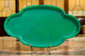 Art Glass:Other , An Art Deco Green Glass Dish. 1 h x 13-3/4 w x 8 d inches (2.5 x34.9 x 20.3 cm). ...