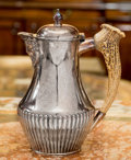Silver Holloware, British, A William Hutton & Sons Silver-Plated Pitcher withAntler-Mounted Handle, late 19th/early 20th century. 9-1/4 incheshigh (2...