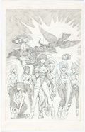 Original Comic Art:Splash Pages, Ron Lim Legends of the Stagrazers Unused Pin-Up Original Art(1986)....