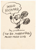 Original Comic Art:Sketches, Roy Williams Mickey Mouse and Other Sketches Original ArtGroup of 5 (1950s).... (Total: 5 Original Art)