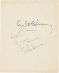 Music Memorabilia:Memorabilia, Beatles Set of All Four Signatures on British GovernmentalStationery(Early 1960s)....