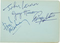 Music Memorabilia:Autographs and Signed Items, Beatles - Set of All Four Signatures (UK, 1963)....