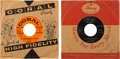 """Music Memorabilia:Autographs and Signed Items, Buddy Holly/Big Bopper Signed """"It Doesn't Matter Anymore"""" & """"Big Bopper's Wedding"""" 45 Singles (Coral/Mercury, 1958/59)...."""