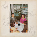 Music Memorabilia:Autographs and Signed Items, Led Zeppelin Signed Presence LP (Swan Song SSK 59402, 1976)....