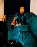 Music Memorabilia:Autographs and Signed Items, Jimi Hendrix Signed Color Photo (circa 1968)....