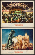 "Movie Posters:Science Fiction, Gorgo (MGM, 1961). Lobby Cards (2) (11"" X 14""). Science Fiction..... (Total: 2 Items)"