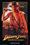 "Movie Posters:Adventure, Indiana Jones and the Temple of Doom (Paramount, 1984). One Sheet(27"" X 41"") Advance Black Border Style. Adventure.. ..."