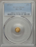 California Fractional Gold , 1872/1 25C Indian Octagonal 25 Cents, BG-790, R.3, MS66 PCGS....