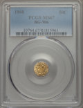 California Fractional Gold , 1868 50C Liberty Octagonal 50 Cents, BG-906, High R.4, MS67PCGS....