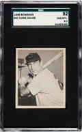 Baseball Cards:Singles (1940-1949), 1948 Bowman Hank Sauer #45 SGC 92 NM/MT+ 8.5 - Pop Two, One Higher!...