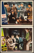 "Movie Posters:Mystery, The Woman in Green & Other Lot (Universal, 1945). Lobby Cards (2) (11"" X 14""). Mystery.. ... (Total: 2 Items)"